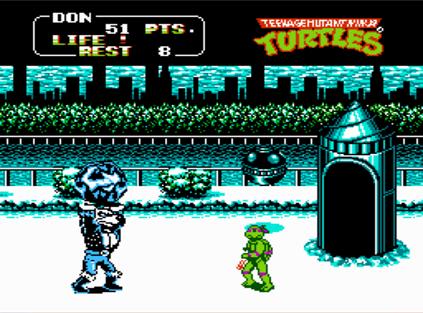 TMNT II Snow Level - TMNT Arcade Game (Konami, 1989)