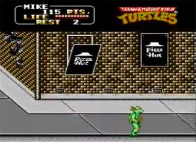 pizzahut - TMNT Arcade Game (Konami, 1989)