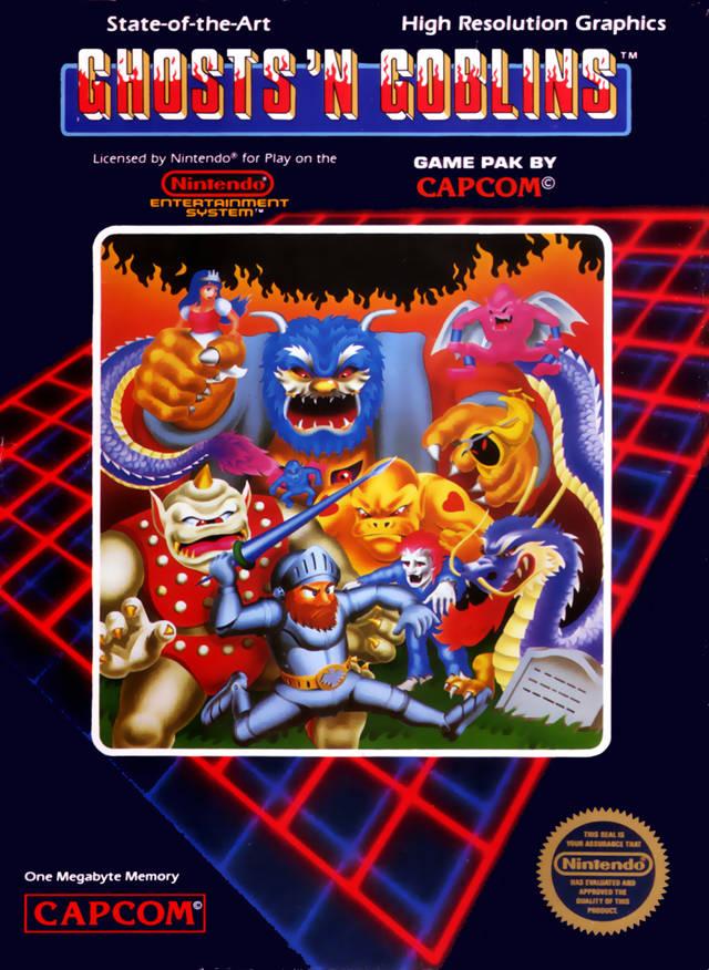 ghostsngoblinsnes - Ghosts & Goblins (Capcom, 1985)