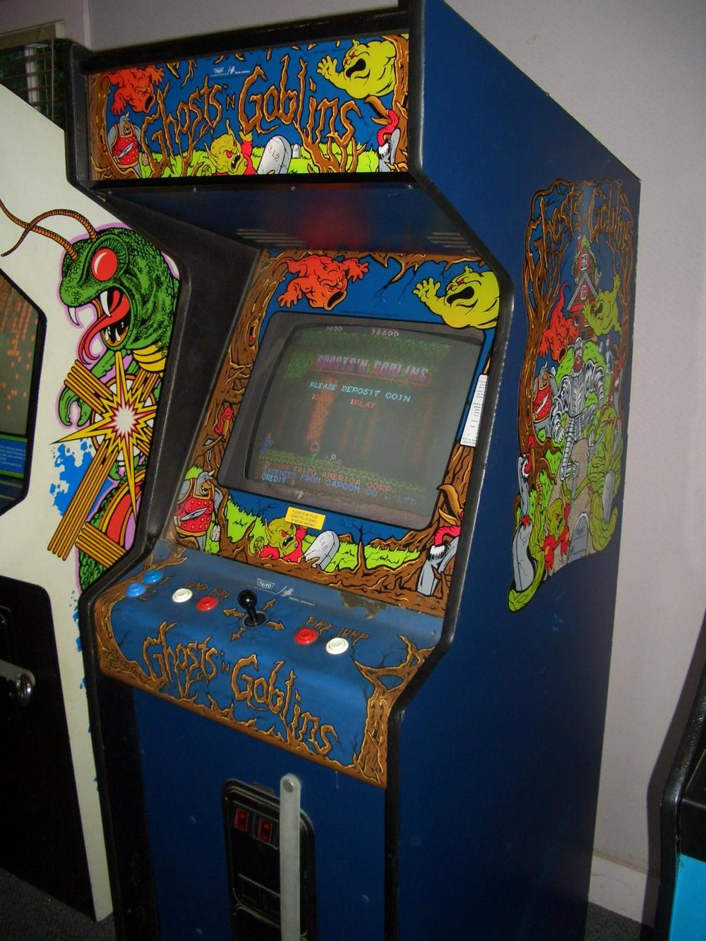 I will say this: the original arcade cabinet looks gnarly. I see actual ghosts and actual goblins.