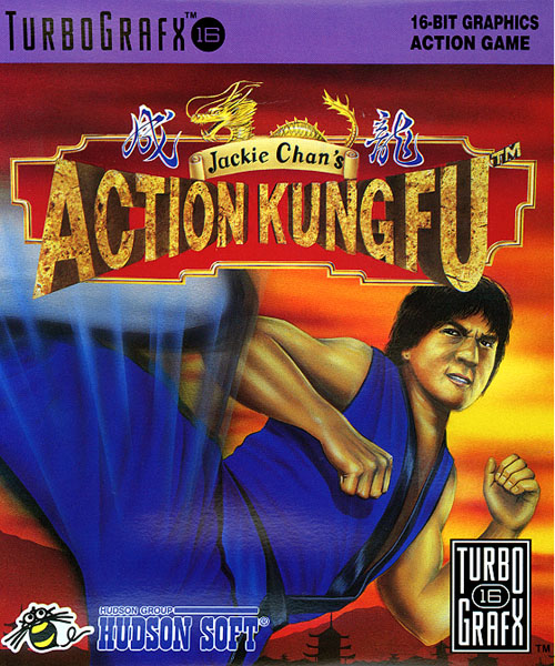 jackie chan box us - Jackie Chan's Action Kung Fu (Hudson Soft/NowPro, 1990)