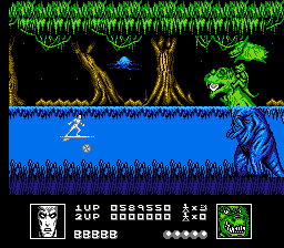 silver surfer nes reptyl rides on the back of his - Silver Surfer (Software Creations, 1990)