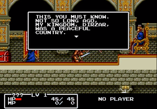From the intro of the Genesis port. The King demands that you kneel, but it's no big deal if you have your sword out.