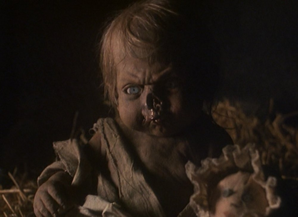 Yes, that's a baby Crypt-Keeper. Yes, this one's based on a story from the comics where they find a baby Crypt Keeper. And yes... this was a choice they made.