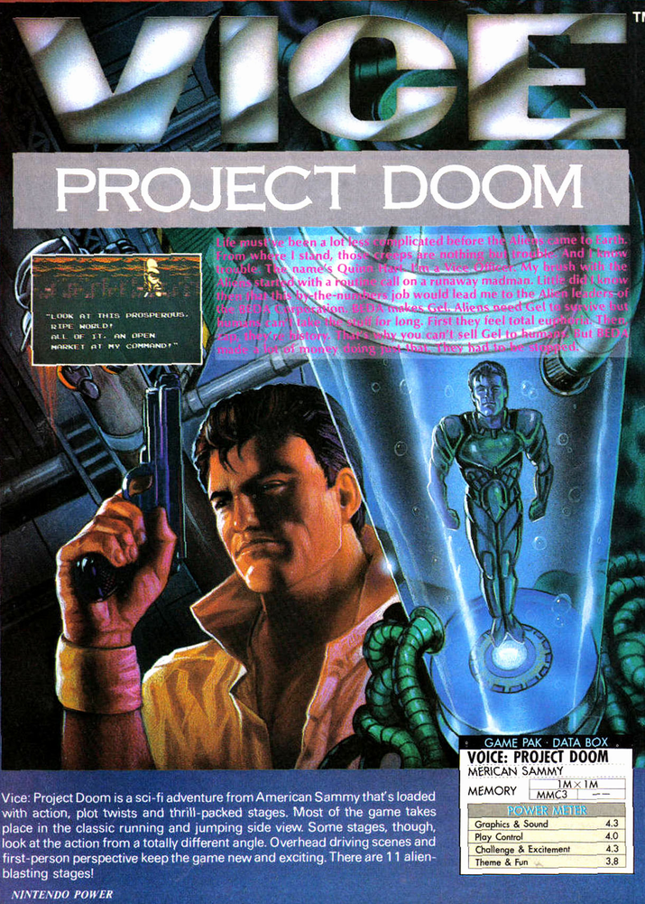 vice project doom 2 - Vice: Project Doom (American Sammy, 1991)
