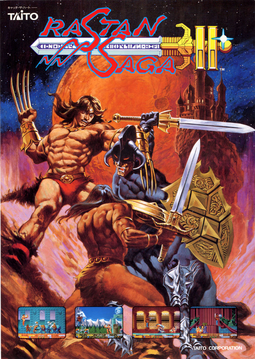 The unbelievably epic flyer art for Rastan Saga II.
