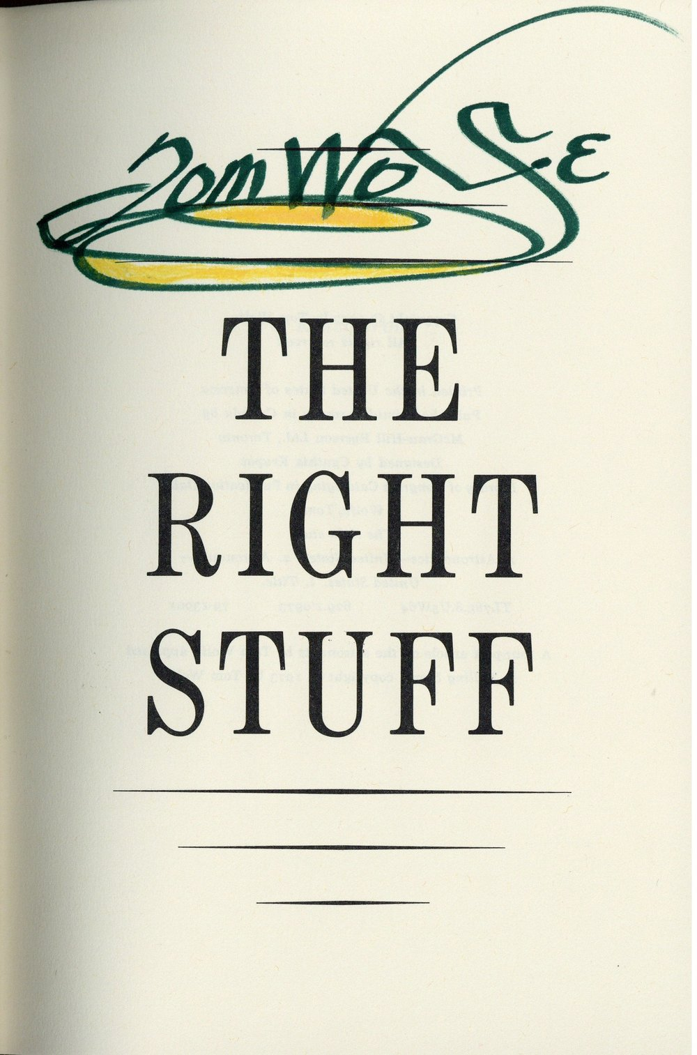 The Right Stuff by Tom Wolfe (1979)