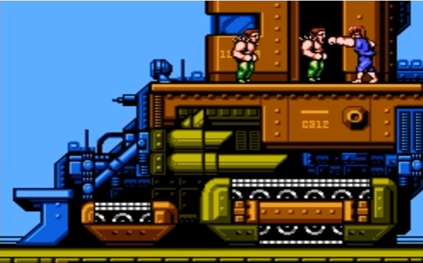 Choo choo! or is it a bulldozer? Either way, it's a frustrating place to die.