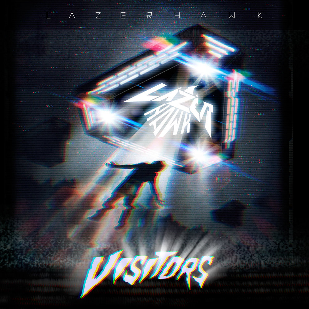 Lazerhawk - Visitors (Album Cover)