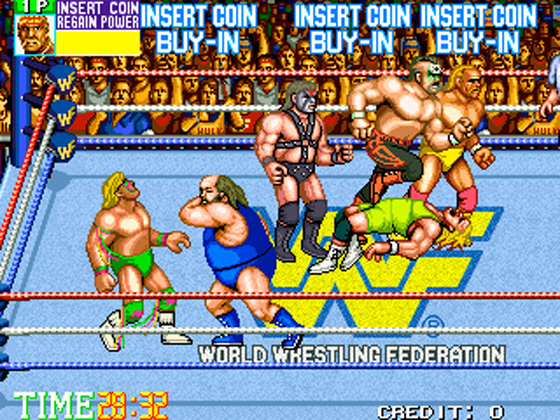 """Ultimate Warrior adds """"slapped half-dead by a fat guy"""" to his resume, while Hogan and half of each featured tag team use Mr Perfect as a boat to cross an imaginary Potomac. Hogan, of course, is Washington!"""