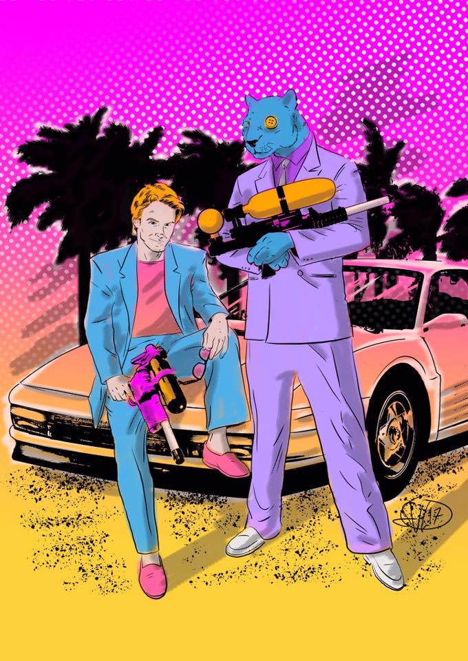 Spencer & Locke fan art by Sean Von Gorman, how could I not share this?