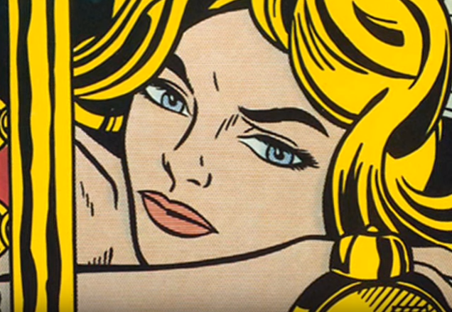 "Photo from ""Desire - Under Your Spell"" (November 22, 2010), on YT Channel The Prismer, art by Roy Lichtenstein"