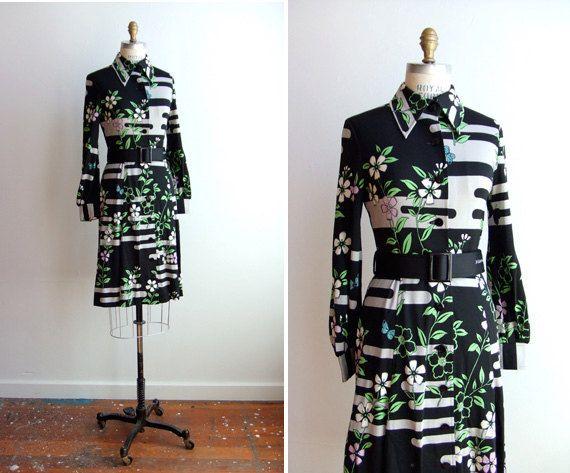 HANAE+MORI+printed+dress - FLUFFY GARMENTS OF THE 80's