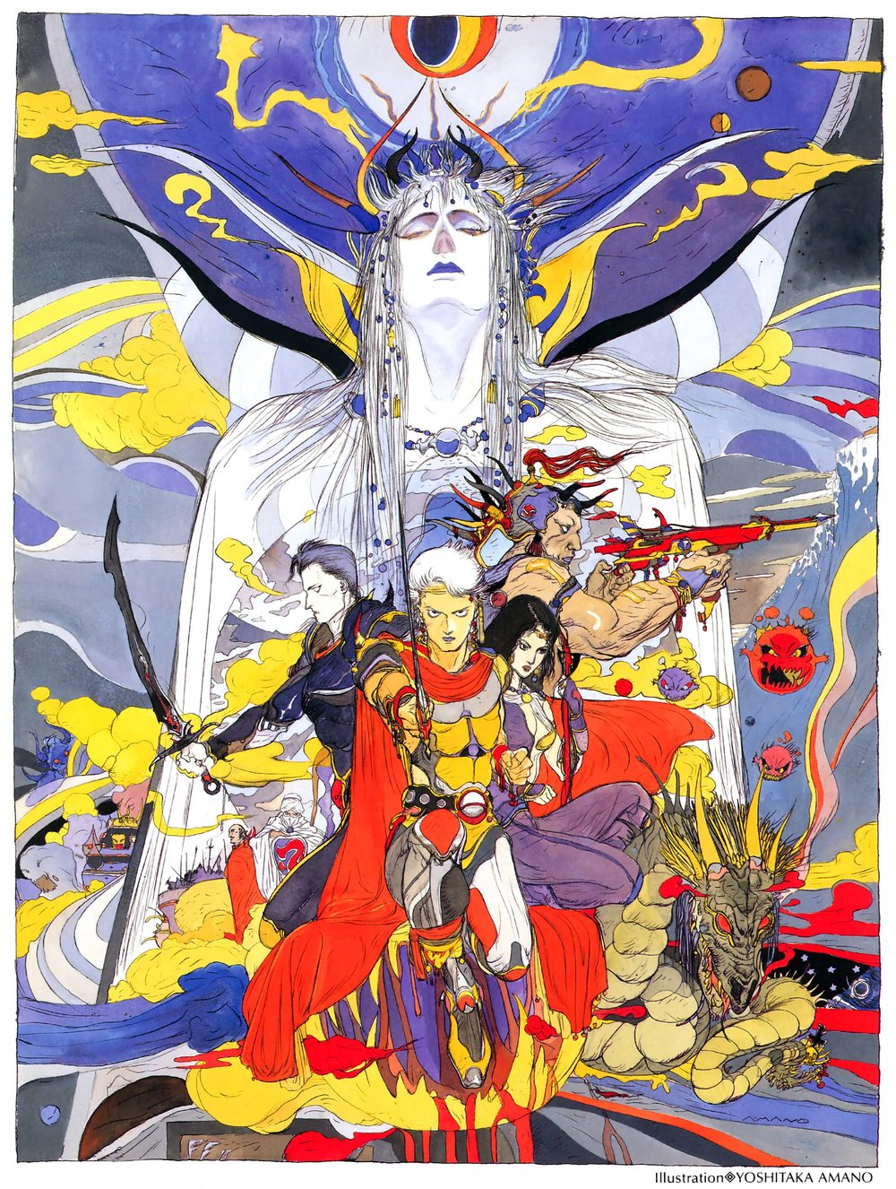 bomb emperor frioniel guy josef and others final fantasy and final fantasy ii drawn by amano yoshitaka  caaada1000bb6719eeacbd5879453802 - Classic Video Game Art vol. II