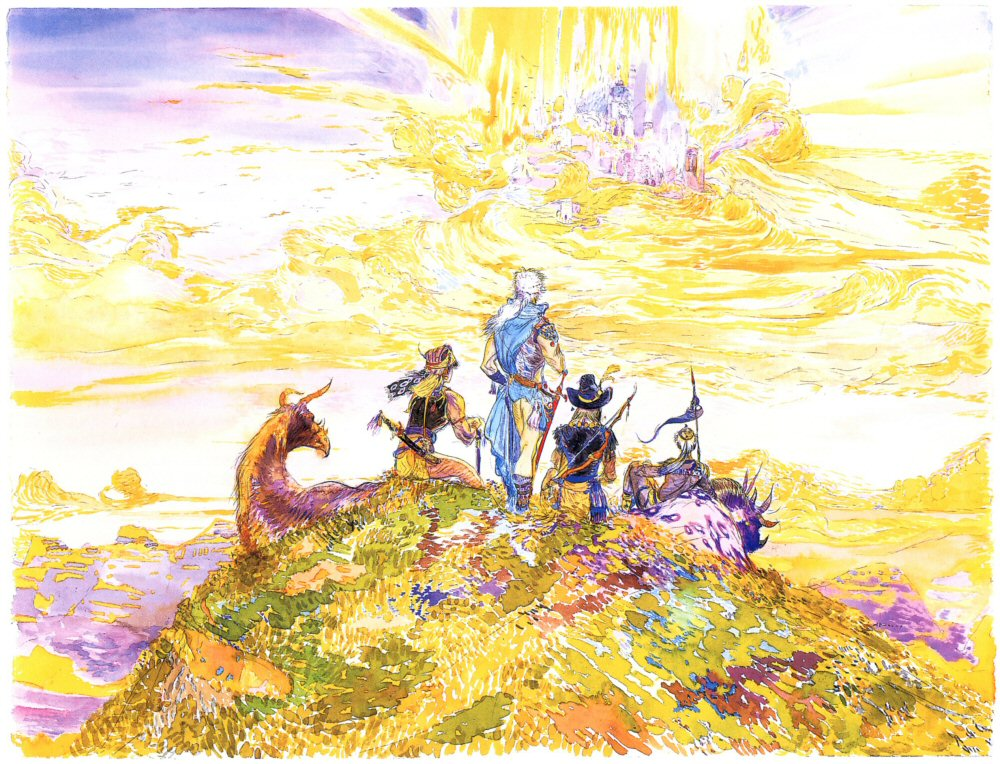Amano FFIII Group - Classic Video Game Art vol. II