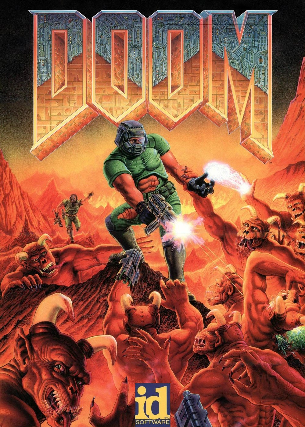 doom+1993+gregor+punchatz - Classic Video Game Art vol. II