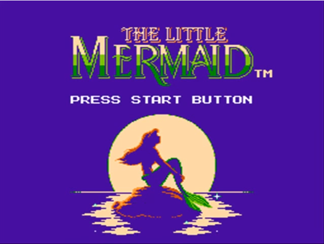 mermaid title - Grab Bag: Capcom's Disney on the NES