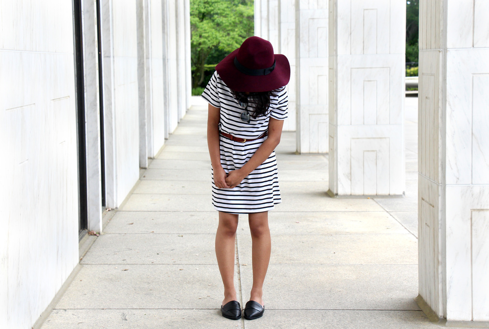 black-white-tee-dress