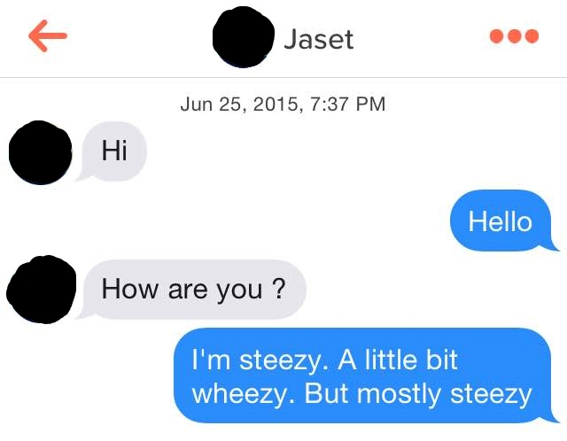 Modern Romance Tinder Message - Steezy