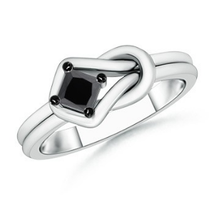 Solitaire Enhanced Black Diamond Infinity Knot