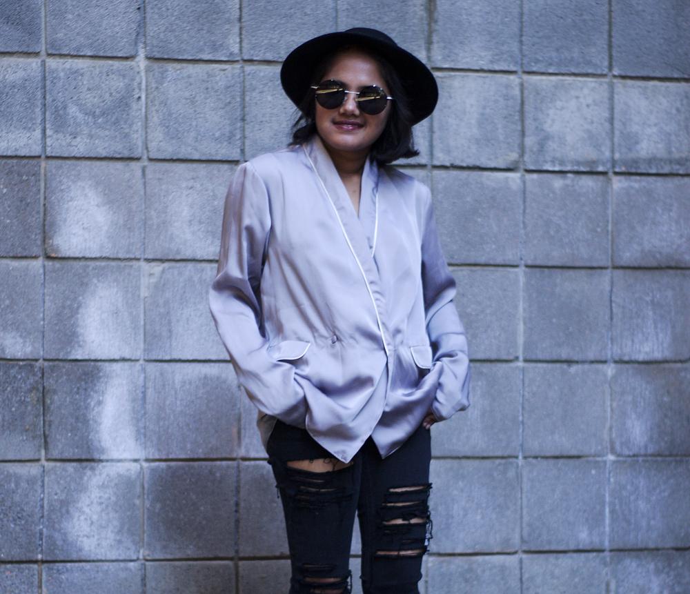 Asos Grey Pajama Top