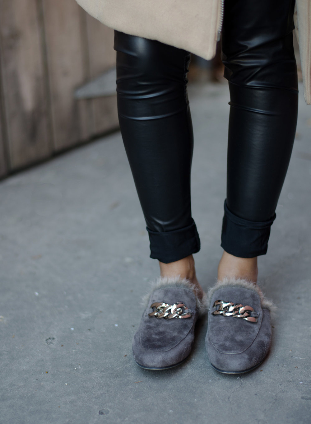 Jeffrey Campbell Apfel Fur Loafers