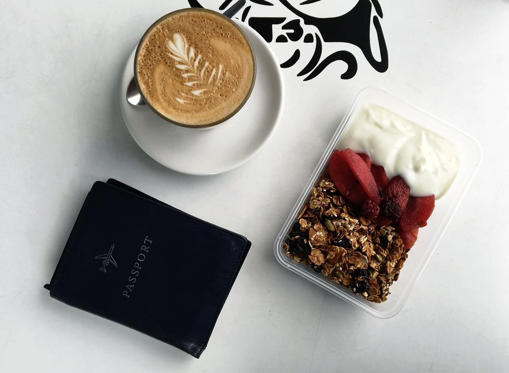 Travel Passport and Breakfast