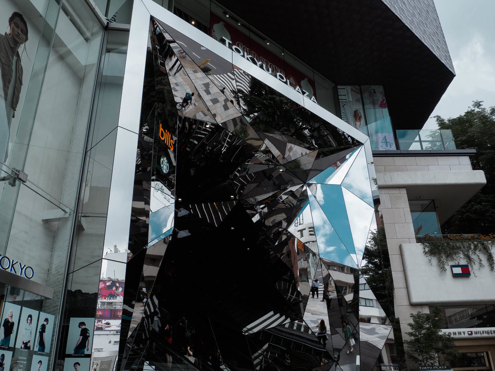 Tokyu Plaza Mirrored Entrance