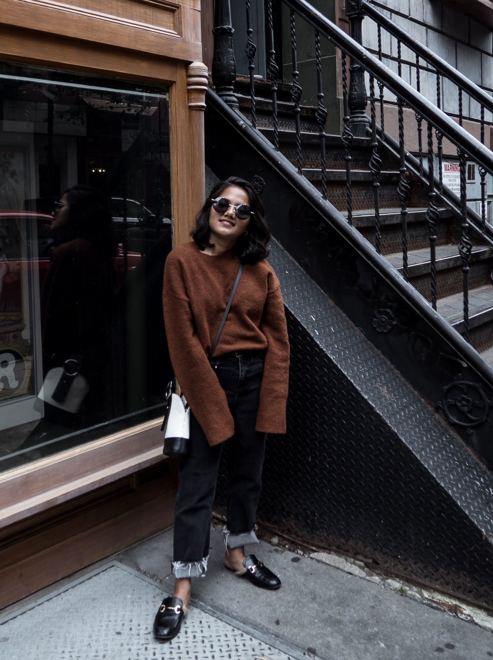 & Other Stories Brown Sweater & River Island Petite Jeans