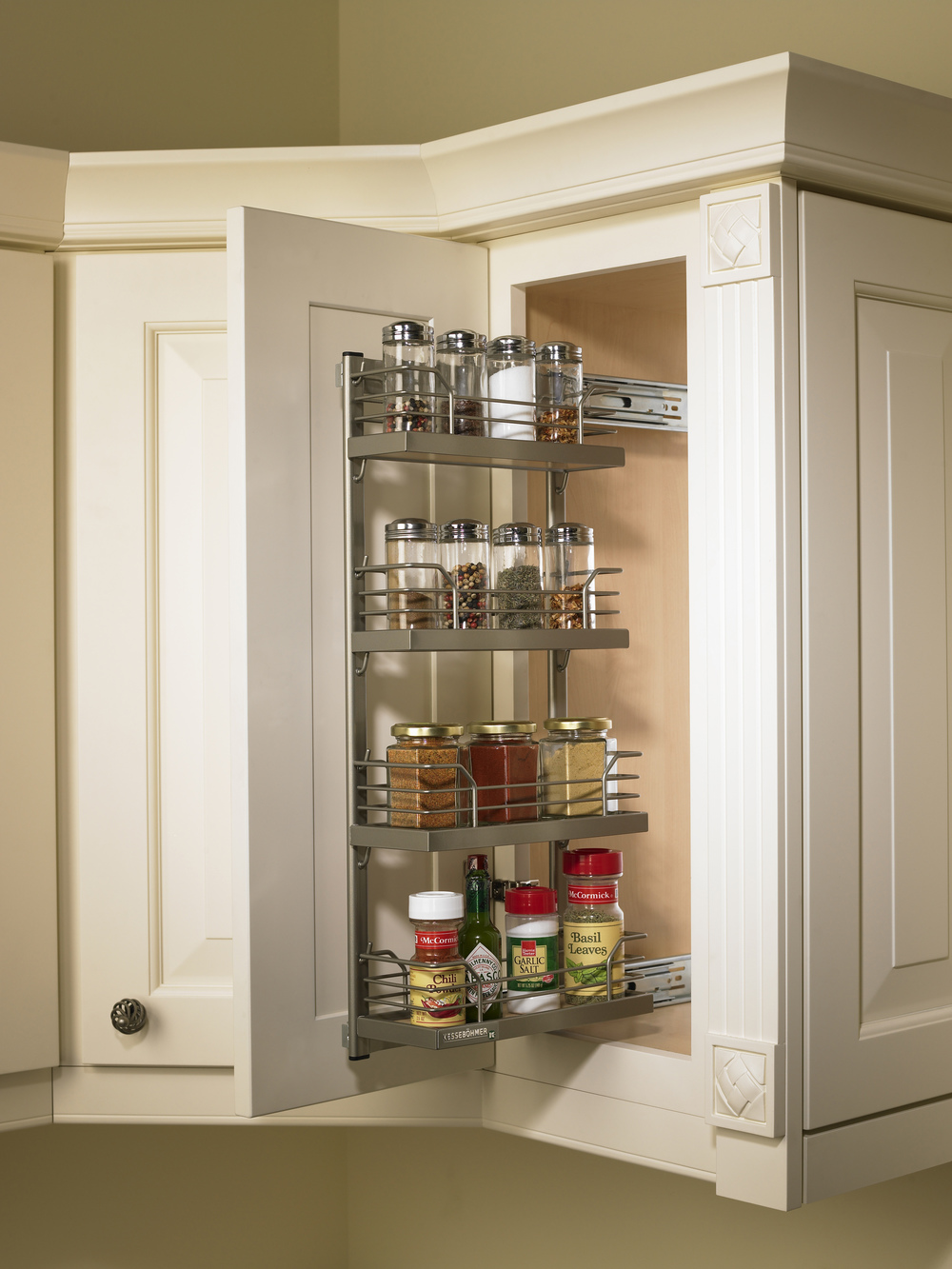Charmant Our Pullout Spice Rack Is Heavy Duty And Easy To Install. Itu0027s Non Slip  Shelves