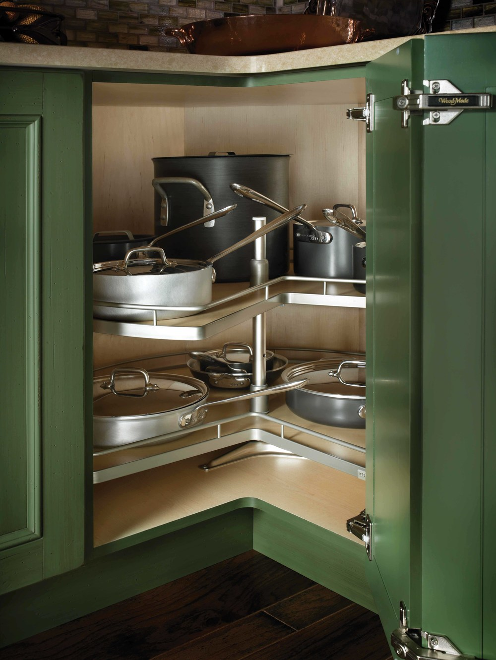 corner cabinet lazy susan different doors for same corner kitchen corner susan piecut