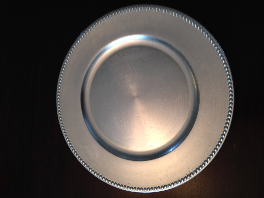 silver charger plate 230 available