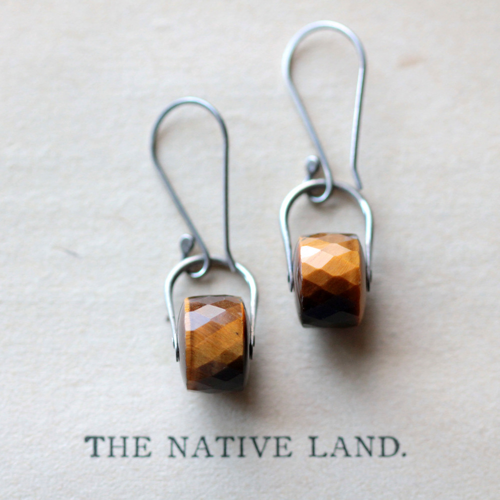 Tiger's Eye Sterling Silver Earrings