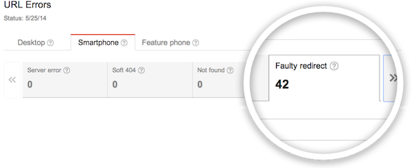 Google Webmaster Tools will tell you if you have faulty redirects.