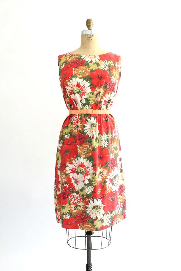 vintage 1960s floral sack dress