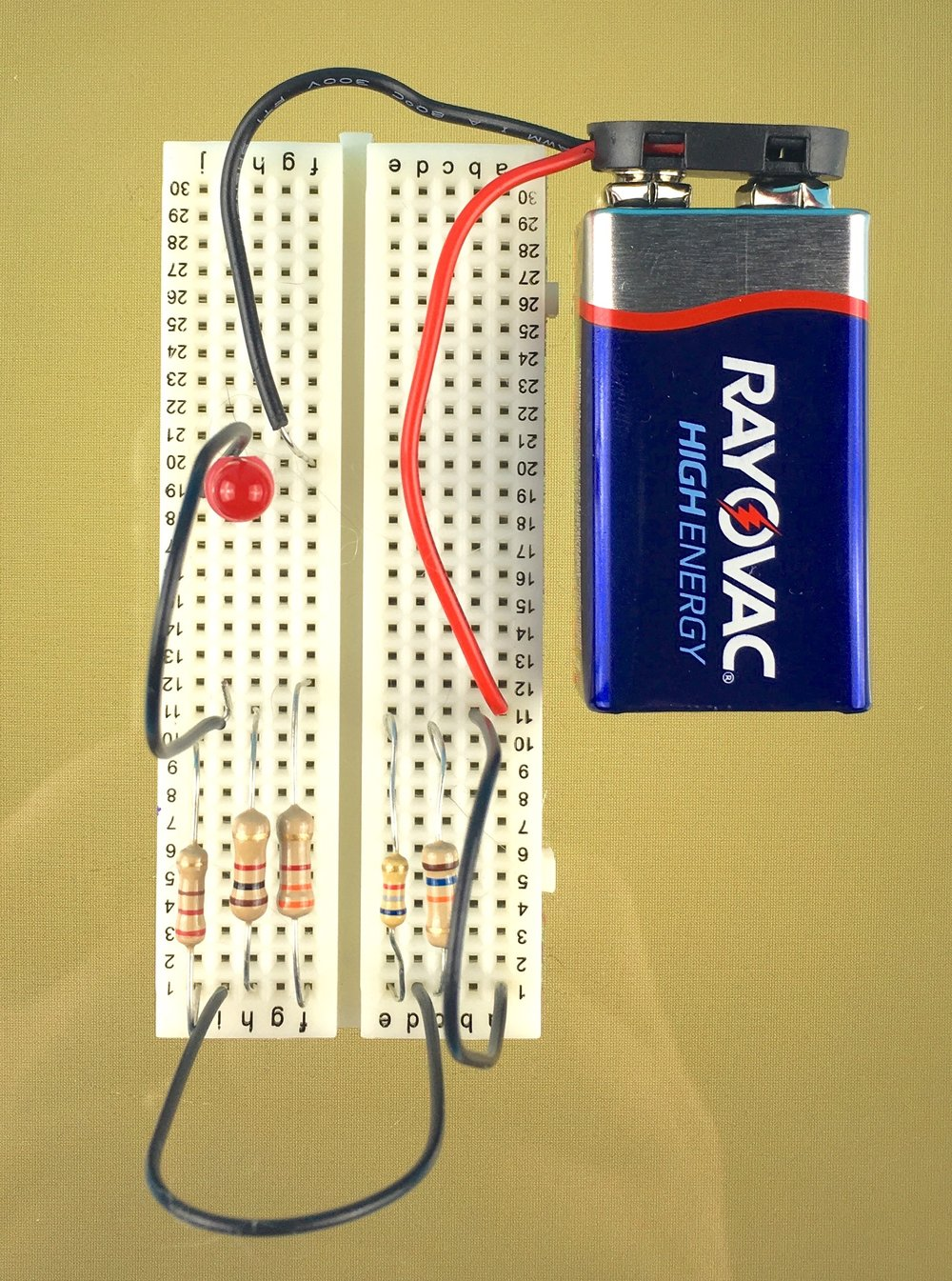 The Basics Lab 5 - intro to resistors