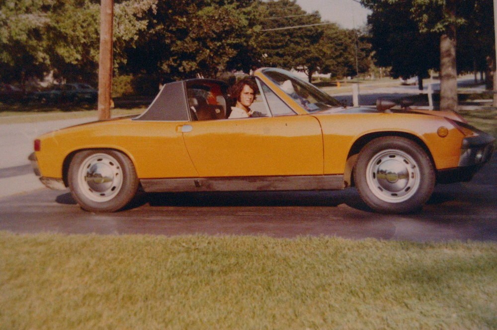 What kind of college kid drives a Porsche?  Answer:  My Dad. Here he is sometime in the '70s.