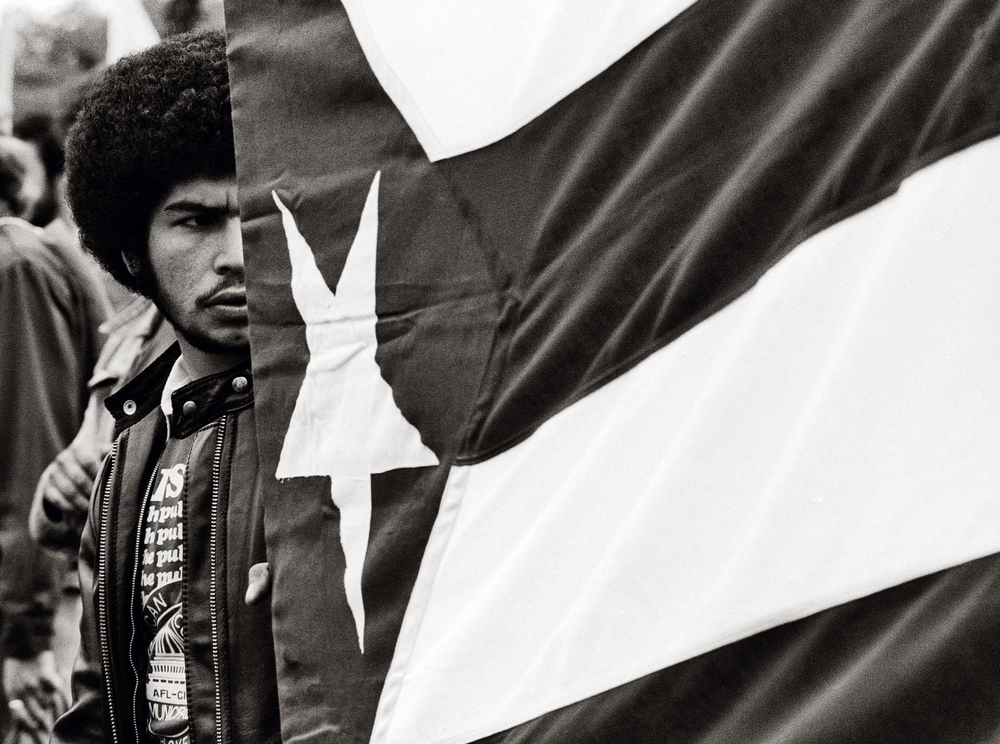 """Man With Flag,"" Solidarity Day Demonstration, Washington, DC, September 19, 1981"
