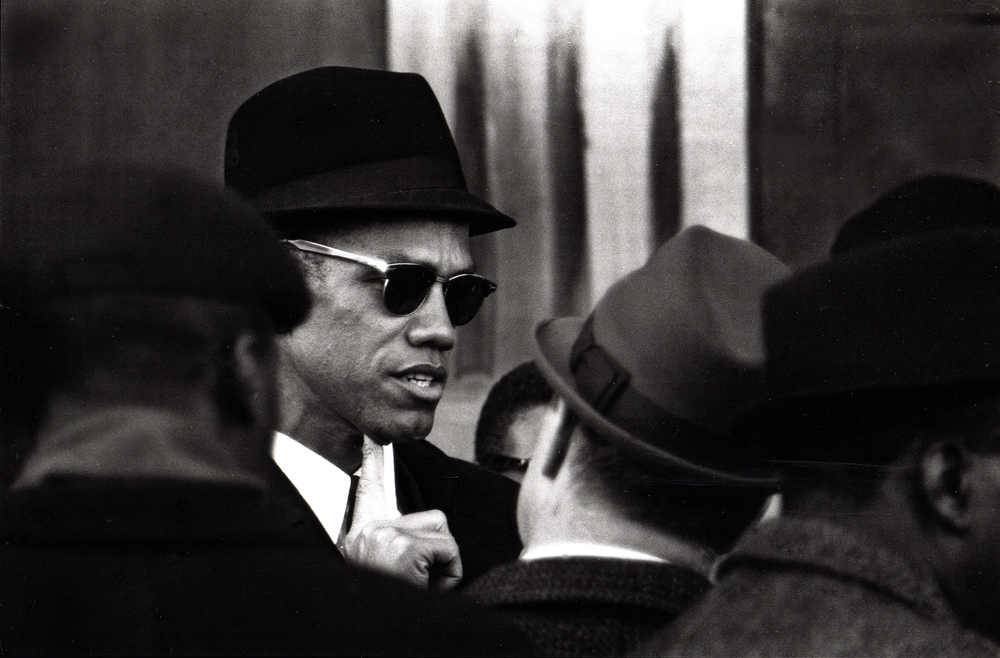 Malcolm X, after speaking at the school boycott demonstration