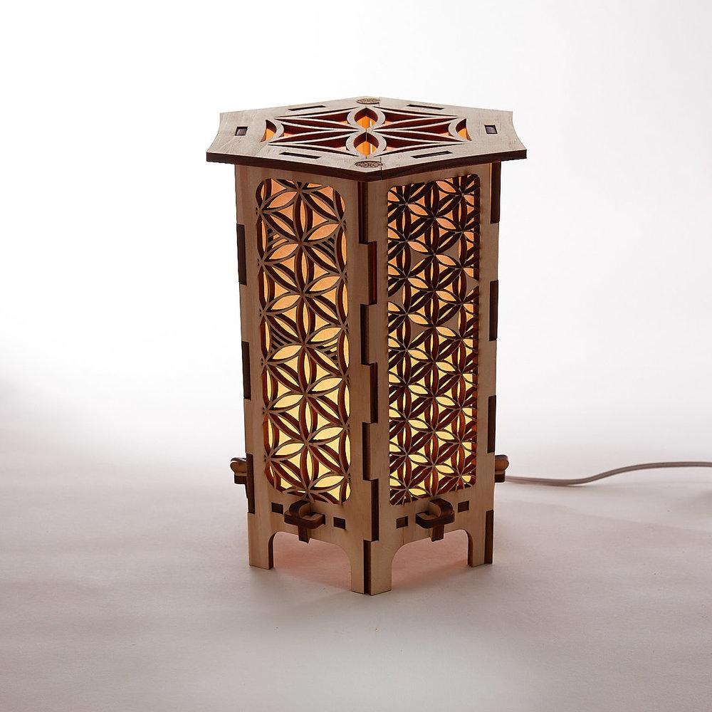 Genial Flower Of Life Tabletop Lamps