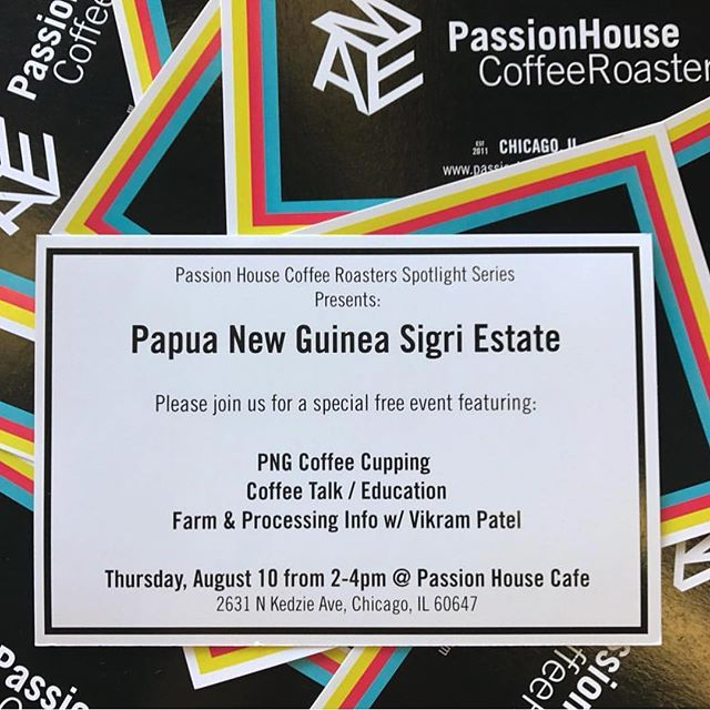 Take a dive into the stellar world of PNG coffee this Thursday, 8/10, with @passionhousecoffee. Join them at their lovely Logan Square shop from 2-4pm. Can't wait to see you there.