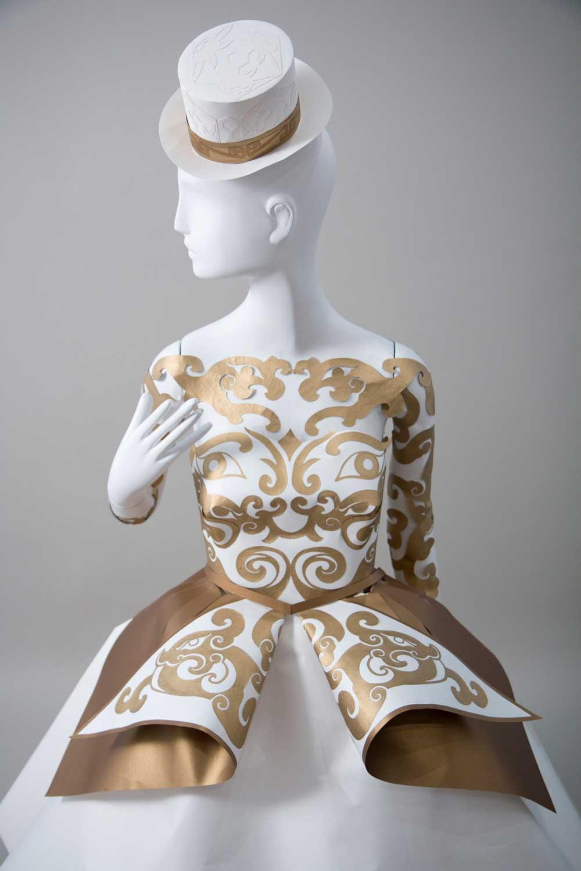 Paper dress by  Burke & Pryde  for Lotte Department Store, Avenue L Branch, Seoul South Korea. Photo by Daniel Ballesteros.
