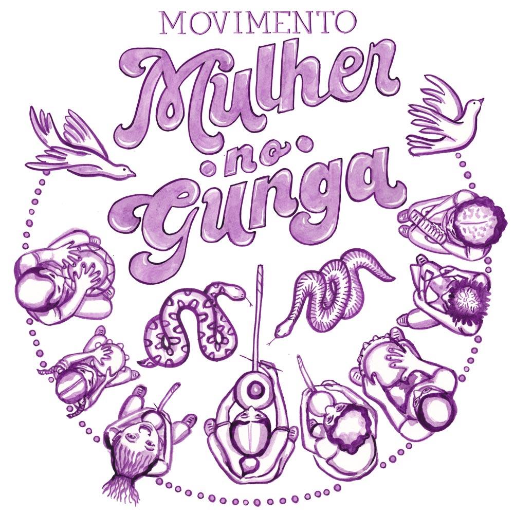 Movimento Mulher no Gunga June 2018 Poster. Acrylic ink. 2018