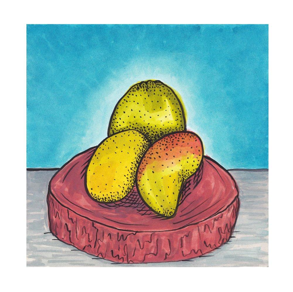 Frutas Da Bahia. Acrylic Ink. 2018.
