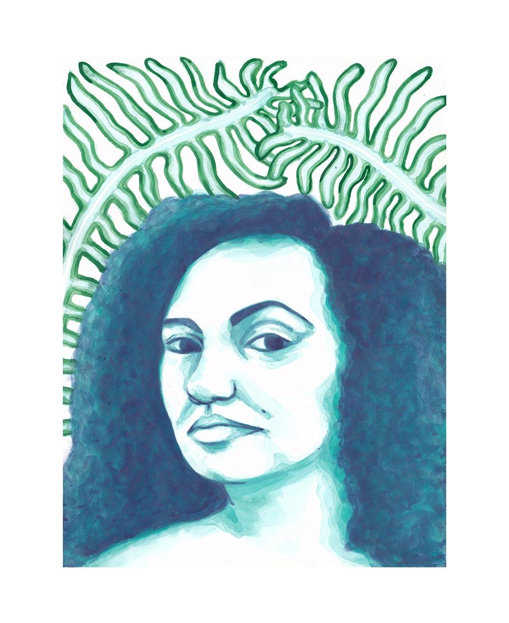Laila na Bahia . Acrylic ink. 2018.