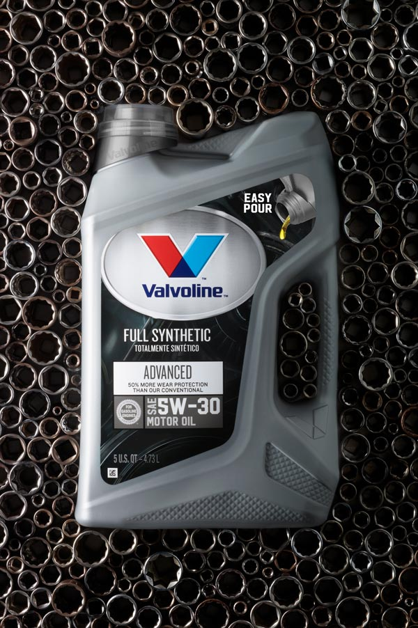 Prop styling for Valvoline oil. Photographed by Erica Leone.
