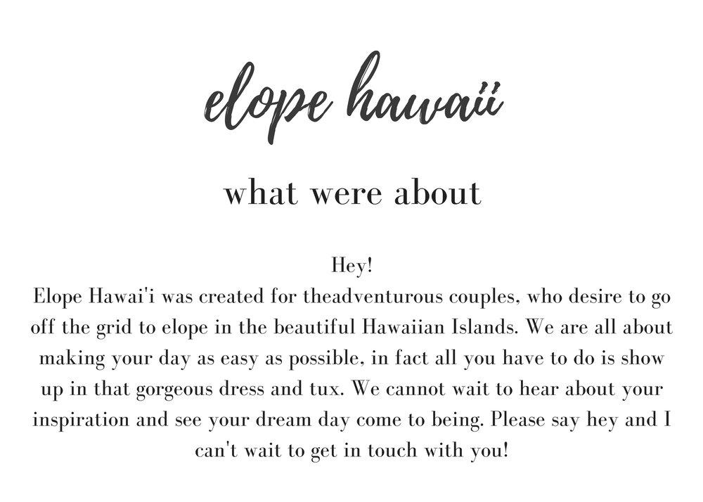 hawaiielopements