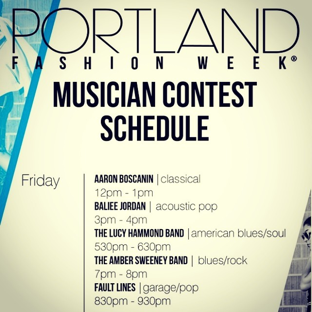 we're playing at Pioneer Square on Friday September 5th as part of Fashion on the Square PDX!