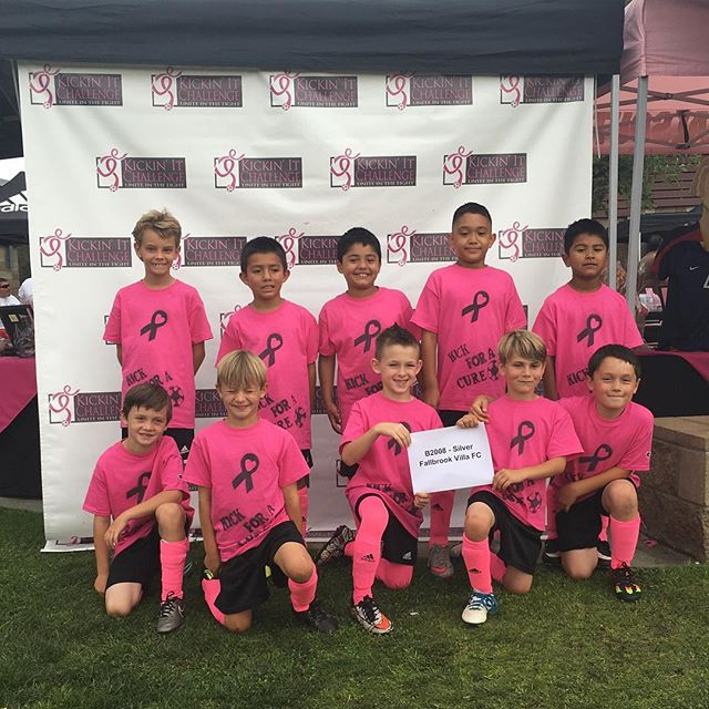 B08 Fallbrook Villa FC showing their pink spirit. #kickinitchal