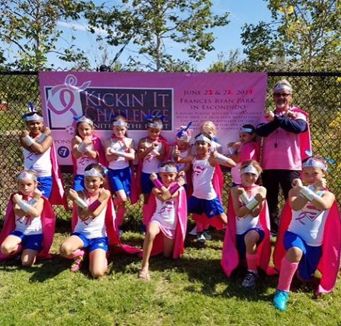 Hurricanes Super Supporters supporting the fight against Breast Cancer. #kickinitchal  #komensandiego
